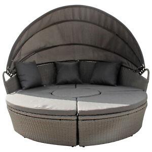 Rattan Sonneninsel Polyrattan Gartenmöbel Lounge Sonnenliege Liegeinsel 3 Farbe