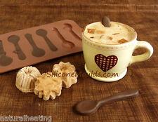 Dos x cucharas de Chocolate, Molde Candy Molde Bakeware del silicón Cupcake Cake Topper