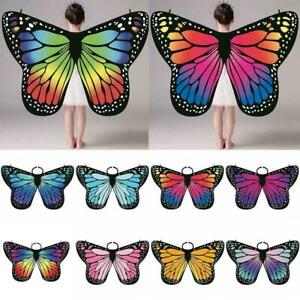 Women Butterfly Cloak Cape Beach Scarf Butterfly Wing Shawl Towel Costume Props