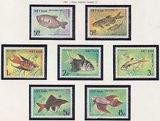 VIETNAM N°506/512** Poissons , 1984 Vietnam 1405-1411 Ornamental fish set  MNH