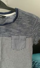 Boys Very Trendy Navy Blue Striped T-shirt Aged 5-6 Years Worn Twice Must See