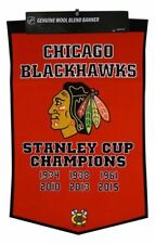 NHL Chicago Blackhawks Stanley Cup Wimpel Pennant Wool Blend Banner 95x60cm