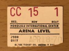 1970 The Doors Honolulu Hawaii Concert Ticket Stub Jim Morrison Roadhouse Blues