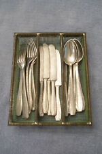 Vintage 1950s German Made Aluminum Child's Play Set Silverware 17 Piece