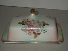 Bavaria Schumann Arzberg Germany WIld Rose Blush Large Covered Butter Dish & Lid