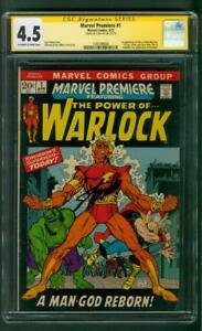 Marvel Premiere 1 CGC 4.5 SS Stan Lee Avengers Infinity War 1st Adam Warlock Him