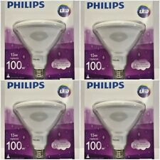 (4 PACK) Philips 100W 15W LED Flood/spot Light Bulb PAR38 - In/Out - Dimmable