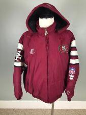 Sz XL VTG San Francisco 49ers Logo Athletic NFL Pro Line Winter Puffer Coat