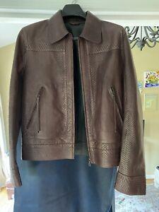 NEW NWT $11,295 Cavalli Python Skin Mens Leather Motorcycle Jacket 48 EU M US