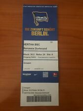 Sammler Ticket 17/18 Hertha BSC Berlin  - Borussia Dortmund