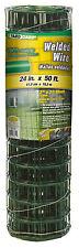Welded Wire Fence, Green Pvc, 16 Gauge, 24-In. x 50-Ft.