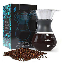 SparkPod Pour Over Coffee Maker w/Stainless Steel Paperless Filter - Ultra-Fine