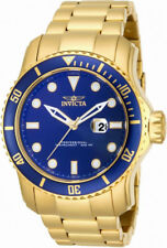 Invicta Pro Diver 15352 Men's Round Analog Date Blue & Gold Tone Watch