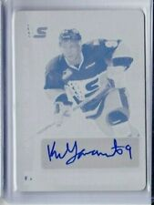 2016-17 LEAF IN THE GAME ITG KEANU TAMAMOTO PRINTING PLATE AUTO 1/1 OILERS PD