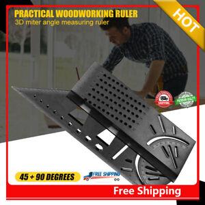 1 x 3D Gehrungswinkel Lineal Winkellineal Holzbearbeitungswerkzeug Messer 45/90