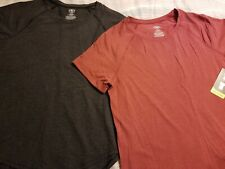 NWT Athletic Works Women's SZ S Black or Red Short Sleeve Top *Free Ship