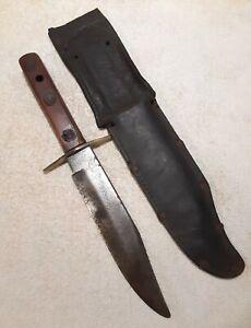 VINTAGE EARLY SOFFE ORIGINAL BOWIE KNIFE W SHEATH SOLINGEN GERMANY