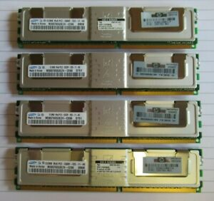 Samsung M395T6553EZ4-CE66 398705-051 2GB 4x512MB PC2-5300 DDR2 ECC CL5 240P RAM
