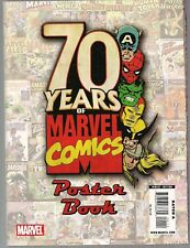 70 YEARS OF MARVEL COMICS POSTER BOOK 2009 MAG SIZE COVER ART 36 POSTERS HTF NM