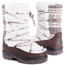 39205a2bae3 NWT Muk Luks MUKLUKS Massak Masak Fairisle Ivory White Fur Winter SNOW Boot  Sz 8