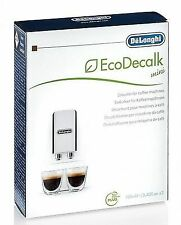 DeLonghi EcoDecalk Coffee Machine Descaler 2 X 100ml Descalers