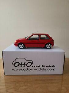 1:18 Ford Fiesta Rs Turbo Red Otto OT120 No 376/1250