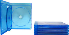 (5) BR3R12BL Triple Blu-Ray Standard Empty Replacement Boxes Cases 3 Disc 12mm