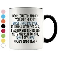 Personalized Barbet Dog Dad Coffee Mug, French Water Dog Owner Men Gift
