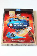 Disney Meet The Robinsons Animated Movie 3D Blu-ray DVD and Lenticular Slipcover