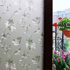 3D Etched Flower Frosted Laser Privacy Static Window Glass Film Sticker100*60cm
