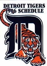 1996 DETROIT TIGERS BASEBALL TV POCKET SCHEDULE - GULDEN'S