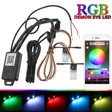 2in1 RGB Devil Demon Eyes Module LED Strip Kit+Bluetooth APP Control Car Bike AU