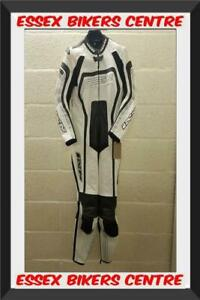 IXS Albacete One Piece Motorcycle Leathers White UK 42 Chest EU 52 - Exc Con