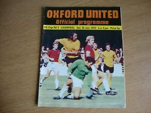1971/2 Oxford United v Liverpool - FA Cup 3rd Round