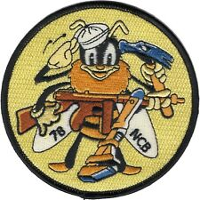 United States Navy SEA BEE 78th Naval Construction Battalion MILITARY  Patch
