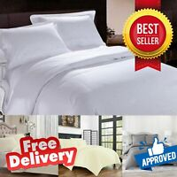 100% EGYPTIAN COTTON LUXURY HOTEL QUALITY SATIN DUVET COVER SET WITH PILLOWCASES