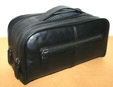 ❤️THE ART OF SHAVING Black Leather Wash Bag Travel Toiletry Kit EXCELLENT! L@@K!