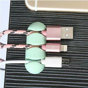 2Pcs 3 Card Slots Wire Organizer Computer Desktop Cable Winder Cable Protector