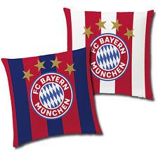 FC Bayern München Stripes Kissen 40x40 cm Dekokissen Kuschelkissen Fankissen FCB