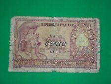 autentica banconota Italia Elmata Lire 100  come da foto