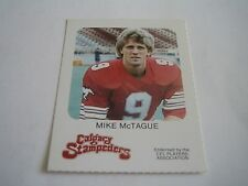 VINTAGE 1981 RED ROOSTER CFL FOOTBALL MIKE MCTAGUE CARD***CALGARY STAMPEDERS***