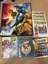2019 SDCC Exclusive DC Black Lightning Swag Bag Backpack ComicCon Souvenir Guide