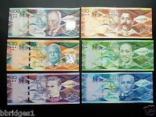 Barbados 6-Note Complete Set of 2 5 10 20 50 100 Dollar Banknotes XF #4