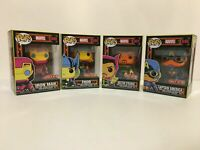 Funko Marvel Black Light Iron Man, Captain America, Thor, Doctor Strange Ship WW
