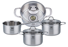 ELO Premium Silicano Plus Stainless Steel Kitchen Induction Cookware Pots Set