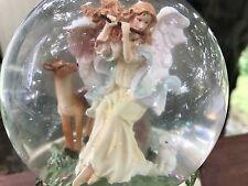 "Musical Angel Water Globe Plays The Tune ""Waltz Of The Flowers"" Nib"