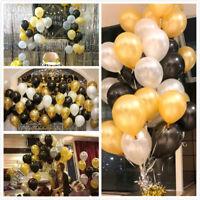 100x Hochzeitsfeier Geburtstag goldenen Latex Ballon 4cm Pearl Gold Party Deko—H