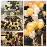 100x Hochzeitsfeier Geburtstag goldenen Latex Ballon 4cm Pearl Gold Party Deko X