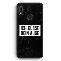 Ich Küsse Dein Auge Silikon Hülle für Huawei Y6s Motiv Design Cool Witzig Lus...