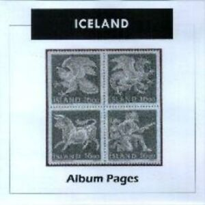 Iceland - CD-Rom Stamp Album 1873-2016 Color Illustrated Album Pages